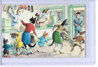 ALFRED MAINZER ANTHROPOMORPHIC DRESSED CATS AT BUTCHERS POSTCARD #4978 TURKEY