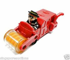 COLLECTIBLE VINTAGE 1995 McDONALD'S HAMBURGLAR OPERATING STEAM ROLLER TOY RARE