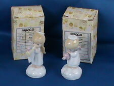 Precious Moments Enesco Angels Set of 2 Trumpet Watering Can Figurines