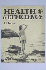 Health & Efficiency Magazine October 1939 Vintage Naturist And Beauty VIM H&E