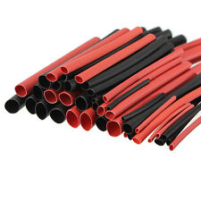 MIXED PACK OF 2:1 RED & BLACK HEAT SHRINK TUBE TUBING SLEEVE INSULATION WIRE 2S