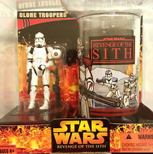 Star Wars CLONE TROOPER Target Exclusive Figure & Revenge of the Sith Cup 2005