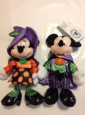 Disney Halloween 2016 Mickey And Minnie Plush NWT Set Of Two
