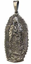 Virgen de Guadalupe .925 Sterling Silver Pendant - Our Lady of Guadalupe Medal