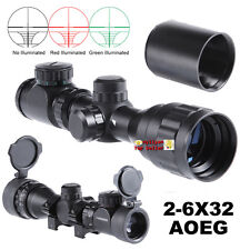 Illuminated 2-6X32AOEG Rangefinder Rifle Scope W/Mount&Sunshade&Caps for Hunting
