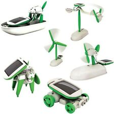 USD - 6 in 1 Solar DIY Educational Kit Toy Boat Fan Car Robot