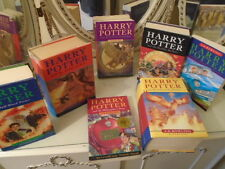 HARRY POTTER COLLECTION 7 BOOKS, 4 HARDBACKS 3 PAPER, 3 FIRST EDS