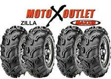 "Maxxis Zilla 25x8-12 25x10-12 Atv Utv Tires Set of 4 25"" 6 Ply 2 Front Rear"