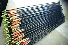 **24x 82CM Archery hunter Nocks Fletched Arrows Fiberglass Target Practice Arrow