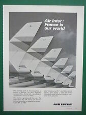 4/1983 PUB COMPAGNIE AERIENNE AIR INTER FRENCH AIRLINE AIRBUS ORIGINAL ADVERT