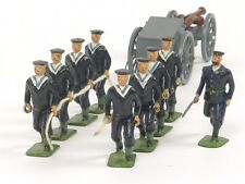 WBritain Royal Navy Landing Party with Limber and Gun Set 79 Toy Soldiers