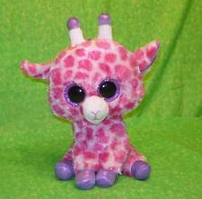 "TWIGS Pink Purple Beanie BOOS Giraffe with BIG SPARKLY EYES 10"" tall"