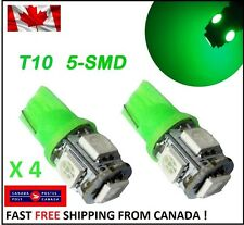 4X T10 LED Green Xenon 5SMD/5050/194Bulbs Light 168 W5W license Plate Wedge HID