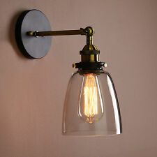 Vintage Industrial Country Style Wall Sconce Light Wall Lamp With Glass Shade