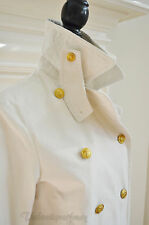 NEW!  Denim & Supply Ralph Lauren  White Canvas Pea Coat Jacket Size Small $225
