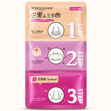 2pc 3 Step Remove Blackhead Kits To Shrink Clean Pores Nose Strips red bag