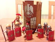PLAYMOBIL ROMANS BUNDLE-5 ROMAN SOLDIERS/CENTURION/COMMANDER/HORSE/BATTERING RAM