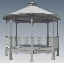 CLASSIC ROTUNDA GAZEBO - UNIQUE DESIGN V1 - Full Building Plans in 3D and 2D