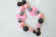 Minnie mouse neckalces. Bubblegum Necklace chunky Bubblegum Girl NecklaceCB688