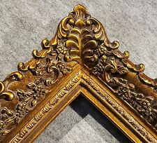 """4.75"""" Picture Frame antique Gold Ornate museum Oil Painting Wood 256G 10x8"""