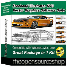 Freehand illustrator svg vector graphics image numérique & sketch éditeur suite