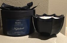 D.L. & Co Nightshade Rare Botanic Candle New In Hatbox 80 Hour Burn Time