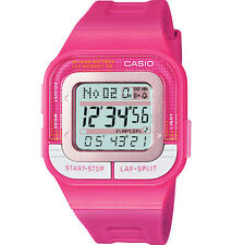 Casio SDB100-4A, 60-Lap Digital Watch, Pink Resin Band, Alarm, Chronograph