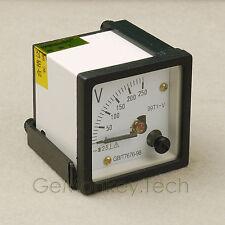 Analog 0-250V AC Panel Meter Volt Meter Voltmeter
