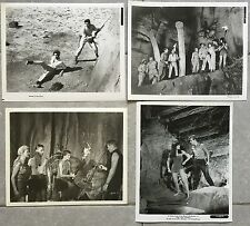 4 Photos Originales LE MONDE PERDU Lost world IRWIN ALLEN Michael Rennie 1960