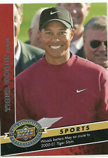 2009 Upper Deck 20th ANNIVERSARY Tiger Woods 3 Golf Majors in 2000 card 1504