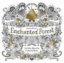 Enchanted Forest: An Inky Quest & Coloring Book by Johanna Basford [ Paperback ]