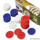 2500 Plastic Poker Chip set - Red White Blue- bulk lot