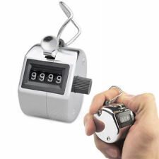 Portable Handy 4 Digits Tally Number Golf Test Lap Counter Number Clicker Silver