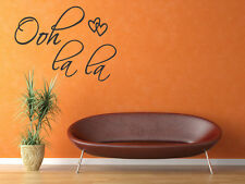OOH LA LA Hearts Wall Decal Love Quote Vinyl Decor Art Sticker Paris France