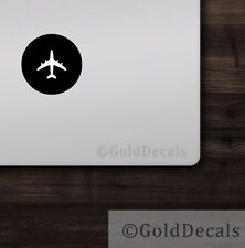 Airplane - Mac Apple Logo Laptop Vinyl Decal Sticker Macbook Aviation Pilot Air