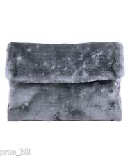 Fur Furry Fluffy Flip Cover Envelope Velvet Clutch Shoulder Bag Fit in iPad Case