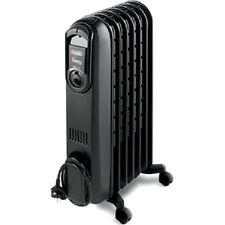 Delonghi TRD0715T Safeheat 1500W Portable Oil-Filled Radiator Heater - Black