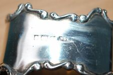 Antico sterling silver napkin ring 30gr B & C Early 1900's Birmingham