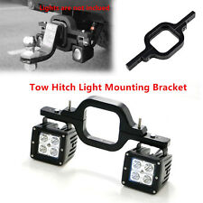 1×Tow Hitch Light Mounting Bracket Dual LED Reverse Rear Work Lamp Light Offroad