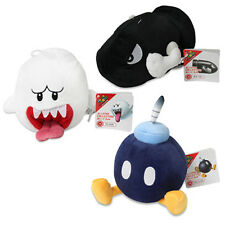 NEW Ghost Boo, Bob-omb & Bullet Bill Plush (set of 3) Super Mario All Star Sanei