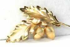 VTG 14K GOLD HSB HARRY S BICK ACORN OAK LEAF LEAVES PIN