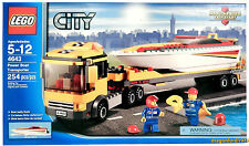 New Lego 4643 Power Boat Transporter City Semi-Truck Trailer Speedboat
