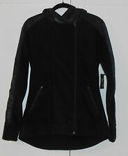 OLD NAVY ACTIVE BLACK GO-WARM MAX FLEECE HYBRID HOODIE JACKET  - SIZE SMALL