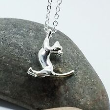 925 Silver Plt Playful Kitten Cat Necklace Pendant Girls ladies gift,