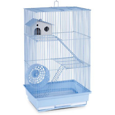 Prevue Pet Products 3-Story Hamster & Gerbil Cage Light Blue