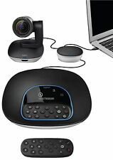 OB Logitech Group Conference Webcam Big Meeting Rooms, 1080p Camera/Speakerphone