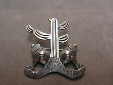 VICTORIAN ANTIQUE TAXCO 980 STERLING SILVER BROOCH PIN