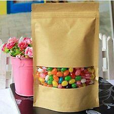 H1 10 Pcs Coffee Seeds Sweets Ziplock Seal Kraft Paper Bag