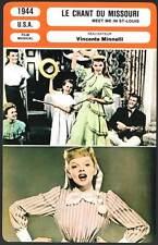 LE CHANT DU MISSOURI - Garland,Minnelli(Fiche Cinéma)1944 - Meet Me in St. Louis