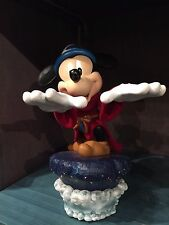 DISNEY PARKS LIGHT-UP BASE MEDIUM FIGURE SORCERER MICKEY MOUSE FIGURINE